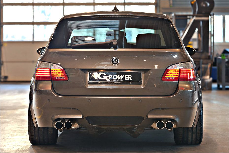 g power BMW M5 4 820PS im BMW E61 M5 Touring von G Power!