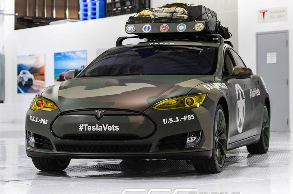 army look f r den tesla model s stromer. Black Bedroom Furniture Sets. Home Design Ideas