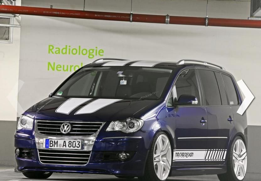 vw touran mr card design 1 Flotter VW Touran getunt von MR CAR DESIGN