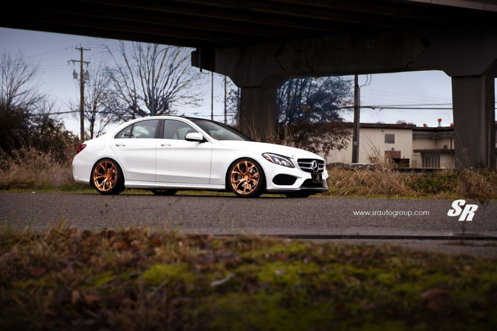 2015 mercedes c300 pur wheels 1 Mercedes C Klasse W205 mit PUR Wheels RS04