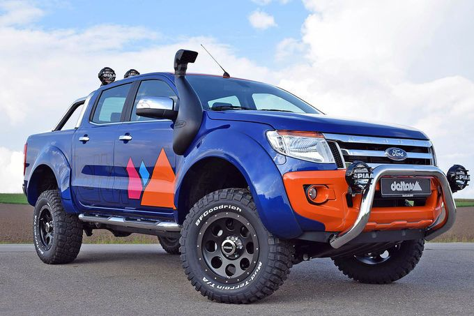 Ford Ranger Magic Orange delta4x4 1 Ford Ranger auf großem Fuß. Tuning von Delta 4x4