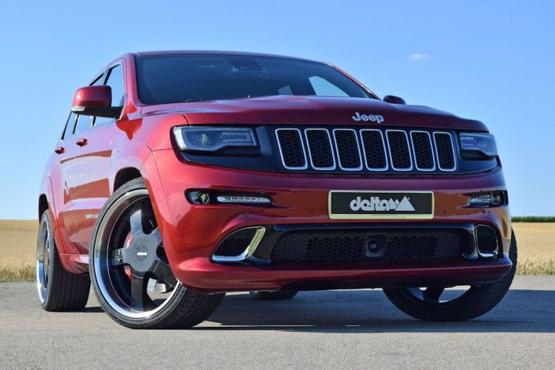 jeep grand cherokee srt8 mit 23 zoll vom tuner delta 4x4. Black Bedroom Furniture Sets. Home Design Ideas