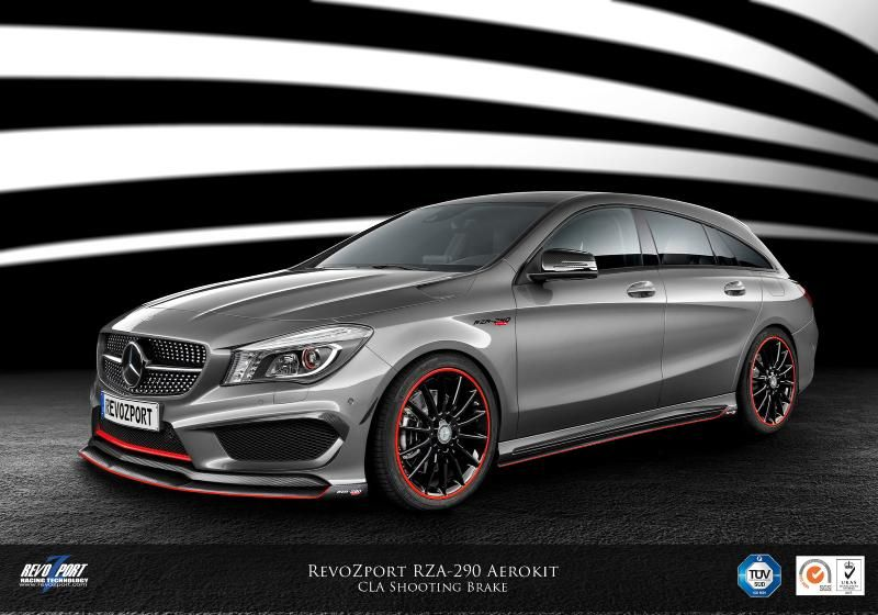 revozport tunt den brandneuen mercedes cla shooting brake. Black Bedroom Furniture Sets. Home Design Ideas