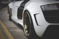 prior design audi r8 24k gold brixton wheels 10 190x127 Audi R8, unterwegs mit 24 Karat Gold Felgen von Brixton Wheels