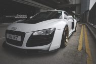prior design audi r8 24k gold brixton wheels 16 190x127 Audi R8, unterwegs mit 24 Karat Gold Felgen von Brixton Wheels