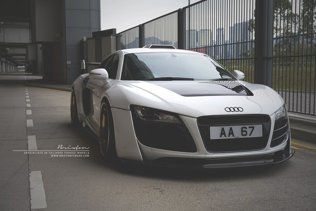 prior design audi r8 24k gold brixton wheels 2 Audi R8, unterwegs mit 24 Karat Gold Felgen von Brixton Wheels