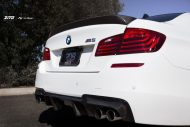 bmw f10 m5 on zito wheels 7 190x127 21 Zoll Zito Wheels auf dem Alpine White BMW M5 F10