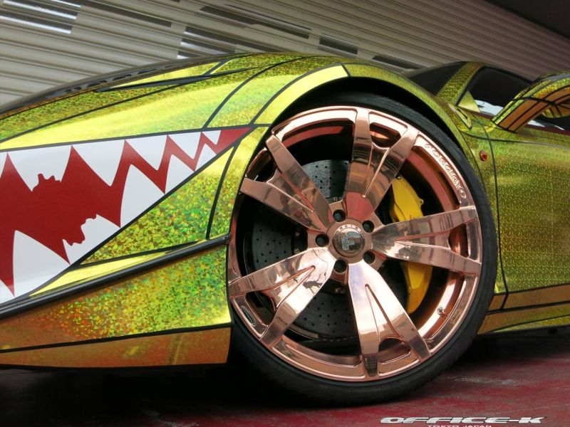 ferrari 458 golden shark by office k 1 Goldener Hai von Office K. Der Ferrari 458 Italia Shark