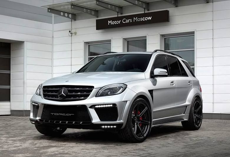 topcar ml63 amg silver arrow 1 Mercedes Benz ML63 AMG vom Tuner TOPCAR mit Widebody Kit