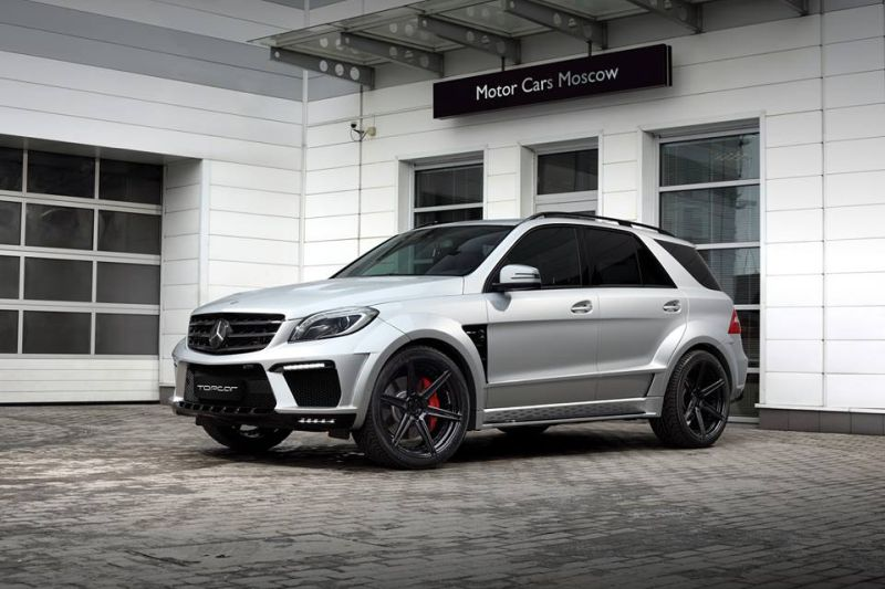 topcar ml63 amg silver arrow 2 Mercedes Benz ML63 AMG vom Tuner TOPCAR mit Widebody Kit