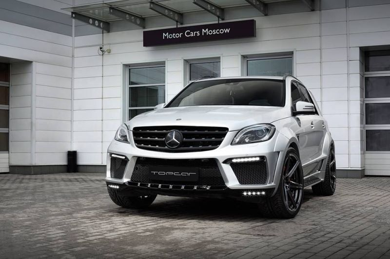 topcar ml63 amg silver arrow 3 Mercedes Benz ML63 AMG vom Tuner TOPCAR mit Widebody Kit