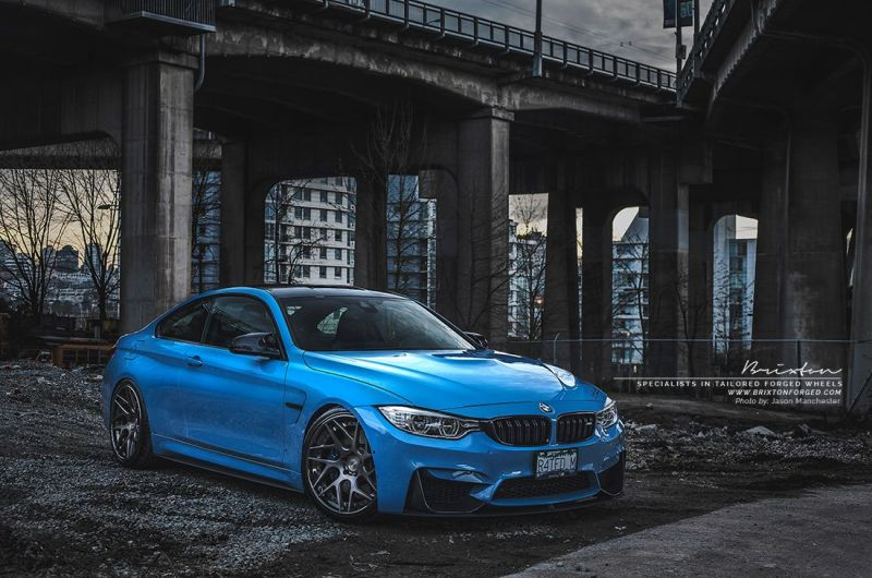 bmw m4 brixton wheels 1 BMW M4 F82 in Yas Marina Blau und mit Brixton Wheels