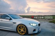 bmw m6 gran coupe on velos s3 wheels 6 190x126 BMW M6 Gran Coupé mit goldenen Velos S3 Felgen