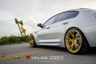 bmw m6 gran coupe on velos s3 wheels 8 190x126 BMW M6 Gran Coupé mit goldenen Velos S3 Felgen