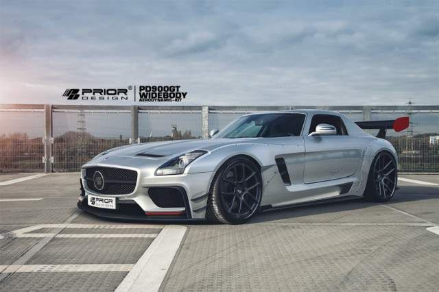 prior design PD900GT widebody aero kit 1 Prädikat, sehr geil! Prior Design veredelt den Mercedes SLS AMG