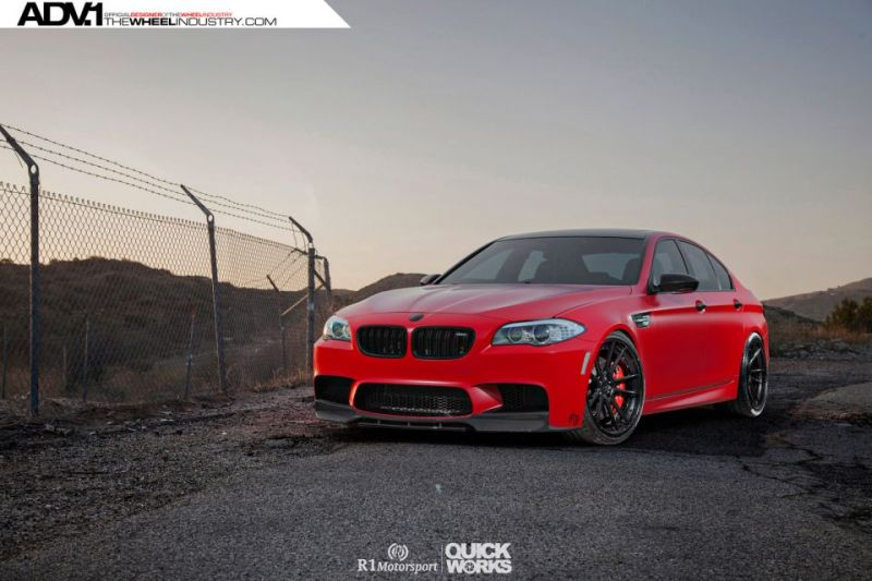 R1 Motorsport Tunt Den Bmw M5 F10 In Satin Red