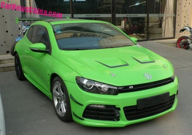 vw scirocco r froschgr nes tuning in china der tuning. Black Bedroom Furniture Sets. Home Design Ideas
