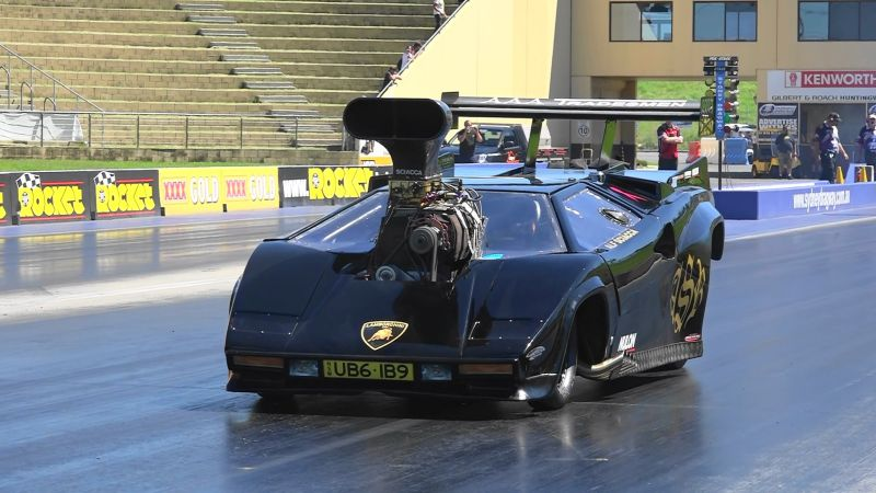 top fuel dragster in lamborghini Volle Kanne Power the vehicle as a dragster conversion!