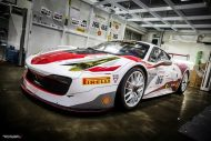 Ferrari 458 Challenge Wrapping 1 190x127 Racing Look Folierung am Ferrari 458 Italia durch Cyclonese Design