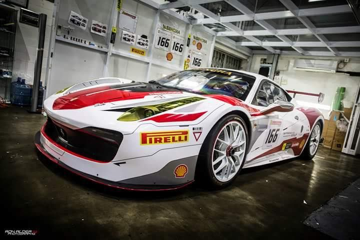 Ferrari 458 Challenge Wrapping 1 Racing Look Folierung am Ferrari 458 Italia durch Cyclonese Design