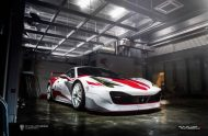 Ferrari 458 Challenge Wrapping 2 190x124 Racing Look Folierung am Ferrari 458 Italia durch Cyclonese Design