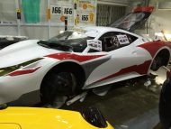 Ferrari 458 Challenge Wrapping 9 190x143 Racing Look Folierung am Ferrari 458 Italia durch Cyclonese Design