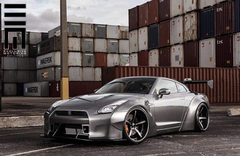 Nissan GT R Wide Body exclusive motoring 1 Exclusive Motoring tunt den Nissan GT R mit einem Wide Body Kit