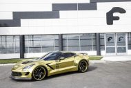 gold chrome wrapped corvette tuning forgiato 1 190x127 Corvette C7 mit Gold Folierung und Forgiato Widebody Kit