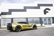 gold chrome wrapped corvette tuning forgiato 2 190x127 Corvette C7 mit Gold Folierung und Forgiato Widebody Kit