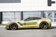 gold chrome wrapped corvette tuning forgiato 3 190x127 Corvette C7 mit Gold Folierung und Forgiato Widebody Kit