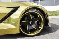 gold chrome wrapped corvette tuning forgiato 4 190x127 Corvette C7 mit Gold Folierung und Forgiato Widebody Kit