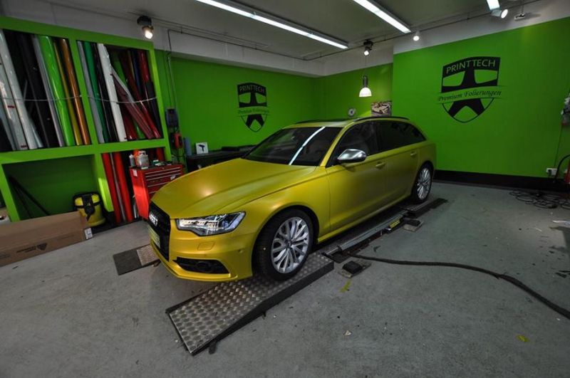 Satin Yellow Audi S6 print tech 1 Exclusiver AUDI S6 in Centurion Satin Gelb von Print Tech