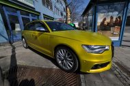 Satin Yellow Audi S6 print tech 9 190x126 Exclusiver AUDI S6 in Centurion Satin Gelb von Print Tech
