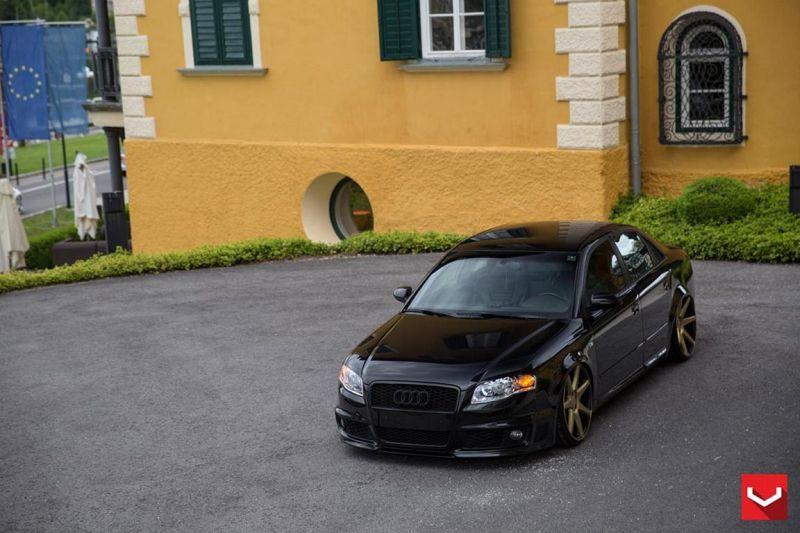audi s4 vossen wheels tuning b8 1 Audi RS4 B7 mit Vossen Wheels und extremer Tieferlegung
