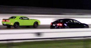 video dragrace tesla model s p85 310x165 Video: Dragrace   Tesla Model S P85D gegen Dodge Challenger Hellcat
