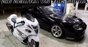 "video total irre suzuki hayabusa 310x165 Video: Total Irre!!! Suzuki Hayabusa gegen Toyota Supra 1.000 ""konja"""