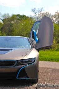 w i8 wrapped metallic grigio 2 190x285 Giovanna Wheels foliert den BMW I8 in mattem Metallic Grigio