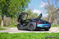 w i8 wrapped metallic grigio 4 190x127 Giovanna Wheels foliert den BMW I8 in mattem Metallic Grigio