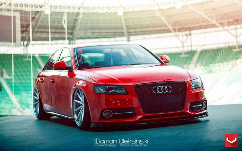 roter audi a4 b8 mit 20 zoll vossen wheels cvt. Black Bedroom Furniture Sets. Home Design Ideas