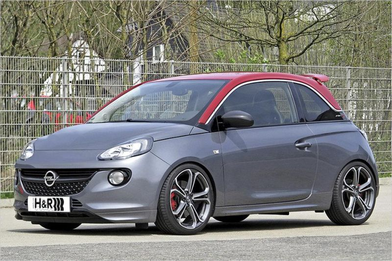 opel adam s 35mm tiefer dank h r sportfedern. Black Bedroom Furniture Sets. Home Design Ideas