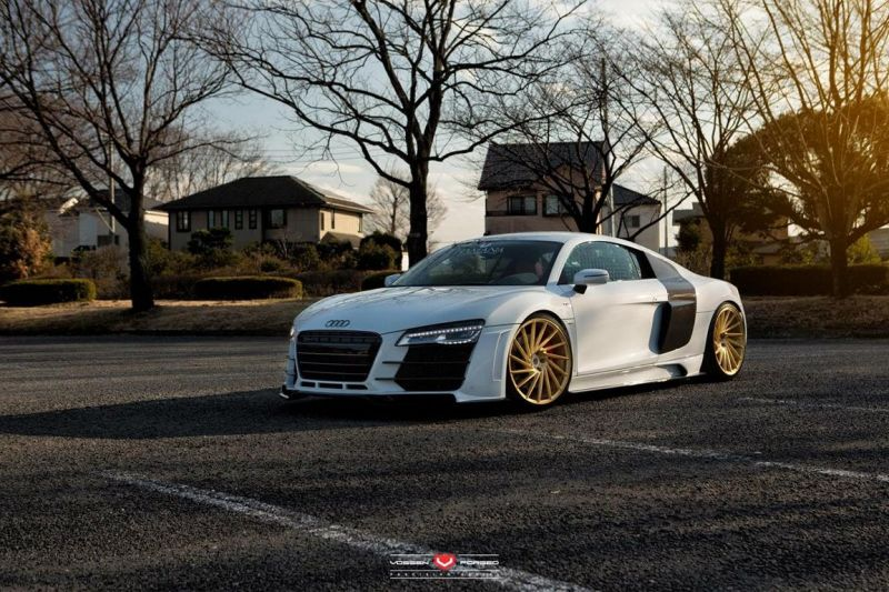 Audi R8 On VPS 304 By Vossen Wheels tuning 1 Audi R8 V10 mit Vossen Wheels VPS 304 Alufelgen