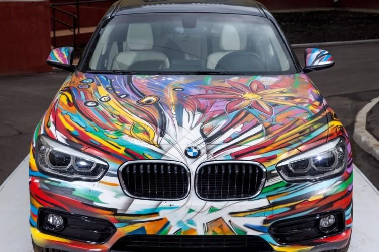 BMW Art Car 1er Facelift 2015 1 BMW 1er Facelift Modell   das inoffizielle Art Car aus Russland