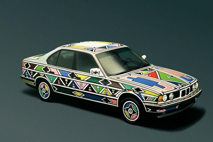 BMW Art Car fotoshowImage 13 BMW 7er G12 740LI Interieur ARTCar von Esther Mahlangu