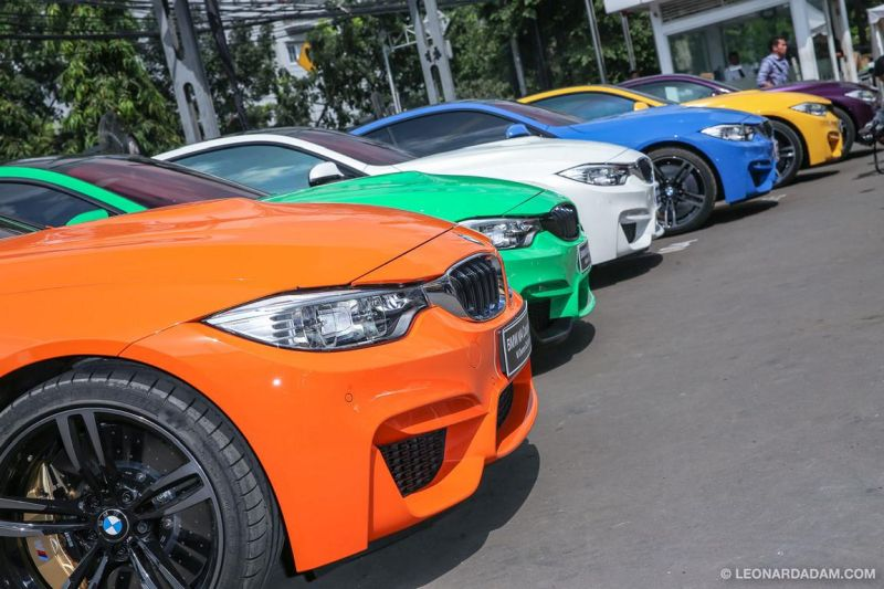 BMW M Owners Club Indonesia M4 F82 colors 1 12 x BMW M4 mit Individual Lackierung in Indonesien