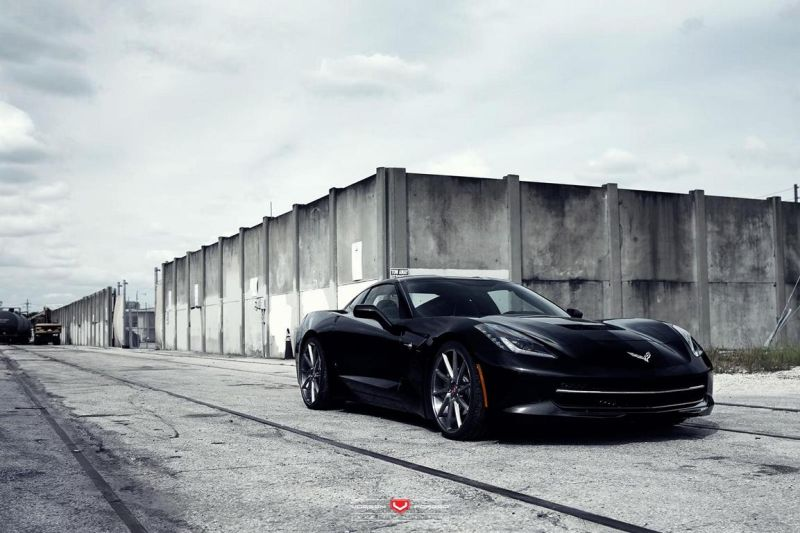 Chevrolet Corvette On VPS 311 By Vossen Wheels 1 Chevrolet Corvette C7 mit 21 Zoll VPS 311 Vossen Wheels