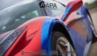 Ferrari 458 Embossed Wrap tuning 1 190x111 Teamarbeit am Ferrari 458   3D Vollfolierung mit Video