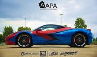 Ferrari 458 Embossed Wrap tuning 6 190x111 Teamarbeit am Ferrari 458   3D Vollfolierung mit Video
