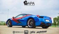 Ferrari 458 Embossed Wrap tuning 7 190x111 Teamarbeit am Ferrari 458   3D Vollfolierung mit Video