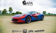 Ferrari 458 Embossed Wrap tuning 9 190x111 Teamarbeit am Ferrari 458   3D Vollfolierung mit Video