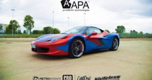 Ferrari 458 Embossed Wrap tuning 9 310x165 Teamarbeit am Ferrari 458   3D Vollfolierung mit Video